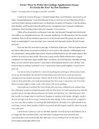Example Of A College Essay What To Write In College Essay