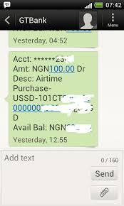 Nigeria - Code Gtbank Phones Recharge Airtime
