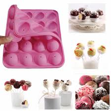 Decorating Cake Balls 100 Ball Lollipops Flexible Cake Pops Silicone Pop Cake Tray DIY 71