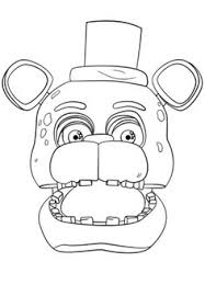 fnaf freddy portrait coloring page from five nights at freddy s select from 27643 printable