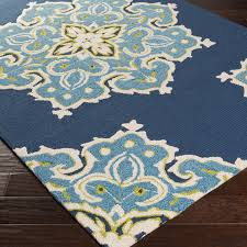 blue and green indoor outdoor rugs ideas