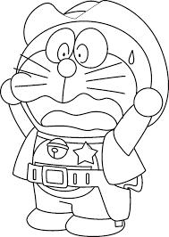 Warnai bagian dalam garis yang ada, lalu simpan hasilnya! Doraemon Coloring Pages Coloring Home