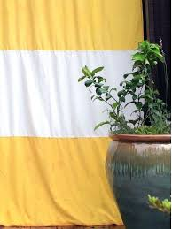 black striped outdoor curtains turn an indoor curtain in to a with this