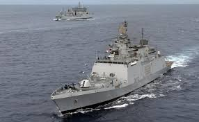 ins china vndata indian warships equipped with ship killer missiles sailing