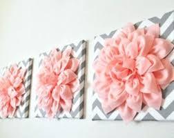 pink metal flower wall art abstract fractal gray fl digital for living room
