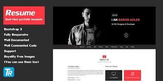 Resume V1 0 Personal Portfolio Web Template Themes24x7 Free