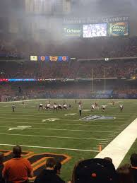 Mercedes Benz Superdome Section 124 Home Of New Orleans Saints
