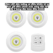 Đèn LED dán tường có điều khiển từ xa, hẹn giờ, điều chỉnh mức sáng tiện  lợi - 3 bóng đèn kèm điều khiển - Moon Shop - Đèn chùm Nhãn hàng