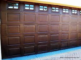 metal garage doorsMetal Garage Door Makeover Before and After  Lucy Designs