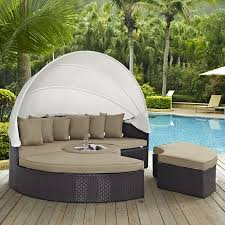 Modway Convene 5 Piece Canopy Outdoor Patio Daybed, Multiple Colors ...