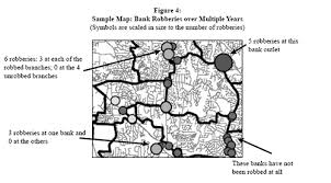 center for problem oriented policing problem guides bank robbery figure 4 sample map bank robberies over multiple years