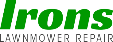 lawn mower logo. irons lawnmower repair - logo lawn mower