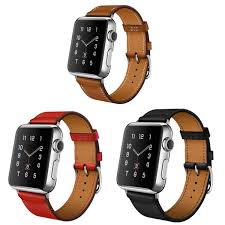genuine leather watch band bracelet single tour strap for apple watch series 1 series 2 series 3 38 42mm