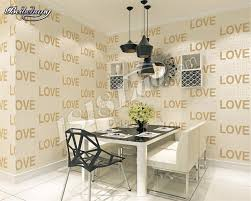 بيبيهانغ الأزياء ورق الحائط أبيض وأسود الأبجدية خلفية الحب متجر