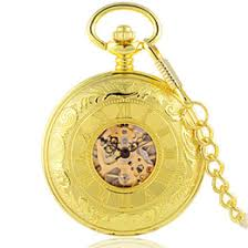 discount windup watch 2017 windup pocket watch on at dhgate com whole antique steampunk skeleton windup mechanical pocket watch double hunter luxury gold stainless steel watch men p421