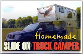 homemade slide on truck camper demountable
