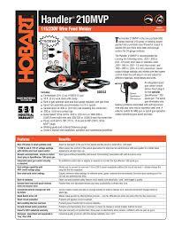 Handler 210mvp T 115 230v Wire Feed Welder Manualzz Com