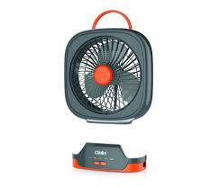 clikon ck2216 3000mah rechargeable mini table fan with led