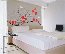 diy painting wallsbedroom  Simple Cool Diy Wall Decoration With Flowers Home