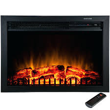 full image for freestanding electric fireplace insert heater black tempered glass remote control duraflame stove reviews