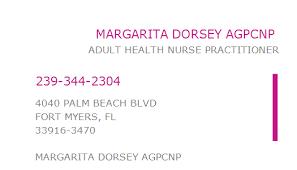 1497200380 NPI Number | MARGARITA DORSEY AGPCNP | FORT MYERS, FL ...