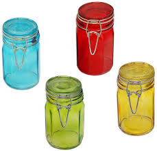 decorative glass jars with lids
