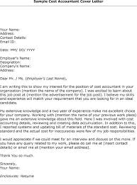 Cover Letter For Cost Accounting Position Breathtaking Cover Letter