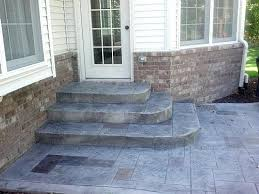 stamped concrete patio with stairs.  Patio Stamped Concrete Patio With Stairs Unique On Floor Designs In Steps 2 Inside C