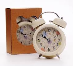 2019 antique alarm clock classic small round silent table alarm clocks night lamp non ticking quartz modern home decor kids gift from happpyzone