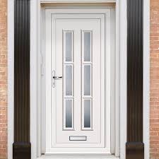 Exterior Lyon Six Upvc Door | External White PVC Doors