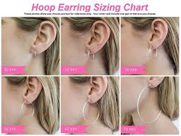 Hoop Earring Chart Large Sterling Silver Round Hoop Earrings W Click Down Clasp 2mm Tube