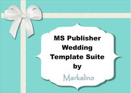 Wedding Invitation Template Publisher Ms Publisher Wedding Invitation Template Suite In Tiffany Blue