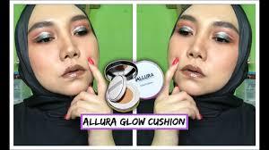 local brand review allura glow cushion foundation izzati sheikha