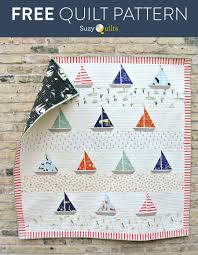FREE Ahoy Sailor Quilt Pattern - Suzy Quilts & Free-Sailboat-Quilt-Pattern Adamdwight.com