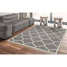 contemporary moroccan trellis gray 5 ft x 7 ft area rug