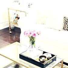gold mirrored coffee table tray