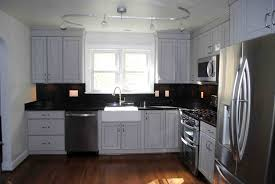 Light Gray Kitchen Gray Kitchen Cabinets With Black Counter