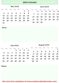 July And August 2015 Calendar Calendar