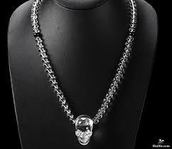 quartz rock crystal crystal skull pendant