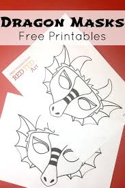 Of course, the designs are pretty cute though, so if you want to print out some for yourself, i. Dragon Mask Coloring Page Red Ted Art Make Crafting With Kids Easy Fun