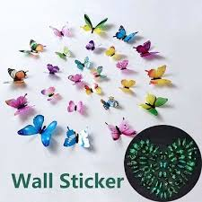 <b>12PCS/SET LUMINOUS</b> BUTTERFLY Wall Sticker for Home 3D ...