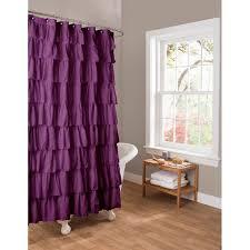 essential living ruffle purple shower curtain walmartcom for the master bath purple ruffle shower curtains s86 shower