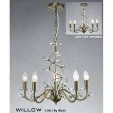 beautiful 5 light brass chandelier or willow medium 5 light antique brass chandelier with crystal decoration