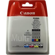 Комплект оригинальных <b>картриджей Canon CLI</b>-<b>471BK</b>, <b>CLI</b>-471C ...