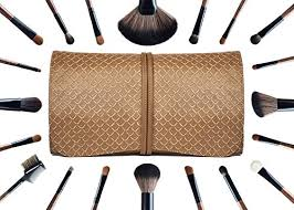 la ferra high quality makeup brush set with soft leather case professional 21 piece cosmetic make