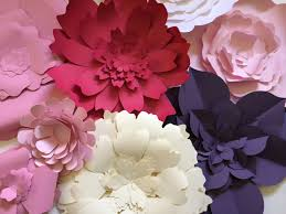 Flower Wall Large Paper Flower Wall Decor Paperflora