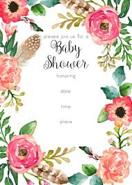 Baby Shower Invitations That Can Be Edited Free Printable Floral Shower Invitation Baby Shower Baby Shower