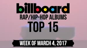 Rap 2017 Charts Top 15 Billboard Rap Hip Hop Albums Week Of March 4 2017 Charts