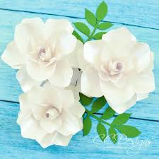 Small Paper Flower Templates Paper Gardenias Paper Flower Gardenias Flower Templates Paper