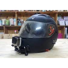 Giá bán [RẺ VÔ ĐỊCH] Bộ gắn cằm camera hành trình Gopro, Sjcam vào cằm mũ  bảo hiểm Fullface gắn cằm gắn tai (không bao gồm mũ)